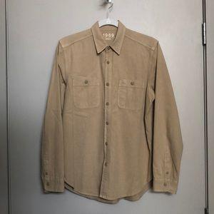 Khaki Gap button down shirt